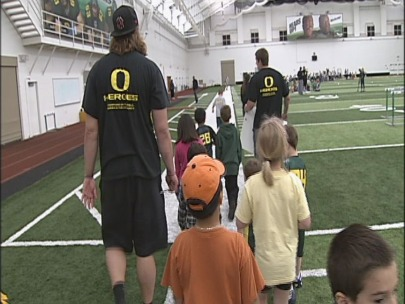 Springfield kids meet UO sports heroes