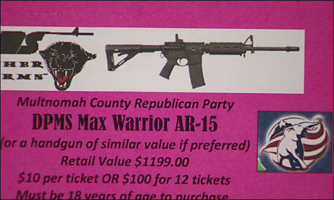Multnomah County Republicans raffle off AR-15 again