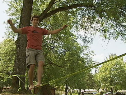 Slacklining: &#39;It&#39;s actually kind of peaceful&#39;