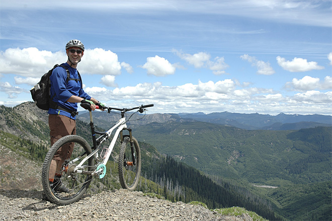 Challenging ride on side of Mount St. Helens