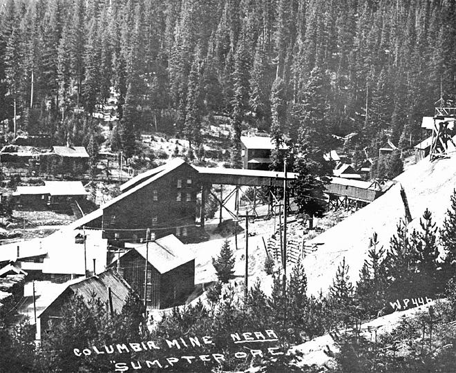 stamp mill at columbia mine near sumpter