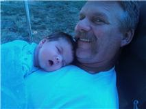 Walker Ray Miller with Grandpa