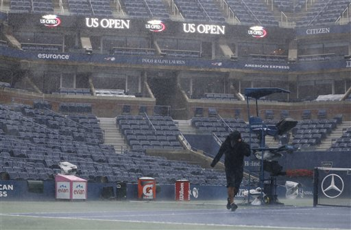 Weather forces changes to U.S. Open Tennis schedule