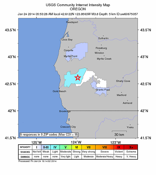 3.8 quake shakes Southern Oregon, but when is the next big one?