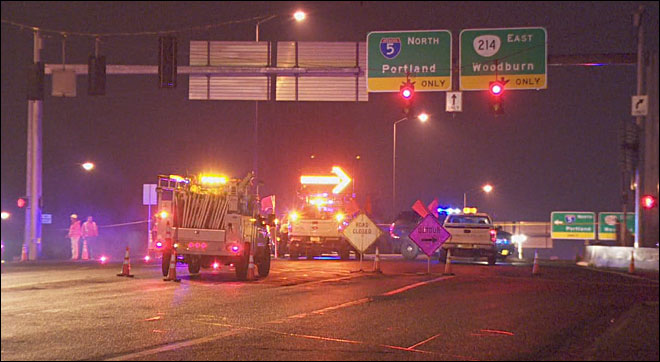 Man shot on I-5 overpass in Woodburn, police say